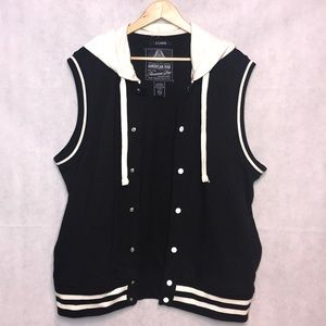 American Rag Hooded Button Vest Size XL